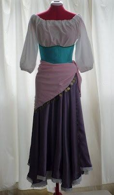 Esmeralda Gypsy CustomMade Women's Costume by PumpkinCoachBoutique, $86.00