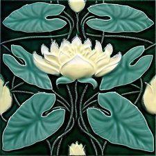 Art Nouveau Reproduction Ceramic Decorative Wall tile 6 X 6 inches #19