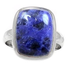 Sodalite 925 Sterling Silver Ring Jewelry s.8 SDOR120 - JJDesignerJewelry