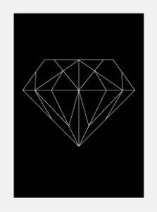 Image of Single Diamond Poster  kr 200,00 = 22,96eur