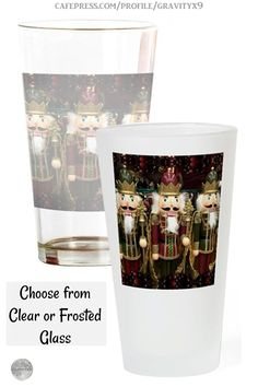 * Christmas Nutcrackers Drinking Glass at Cafepress by #Gravityx9 * A nice gift for friend, gift for coworker, family or your Christmas Kitchen. Made of durable lead free glass, this drinking glass has a classic feel, holds 16 fluid ounces & is a staple pint glass for your barware * This Design is available on aprons, shirts and more. * Christmas drinking glass * Christmas glass drink ware * #ChristmasKitchen #Christmas #drinkingglasses #Christmasgift #barware #drinkware #ChristmasKitchen…