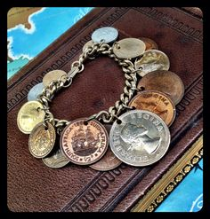 Vintage South African foreign Coin Bracelet  by aVintageParcel, $29.95 Coin Bracelet, Bangle Bracelets, Bangles, Necklaces, Foreign Coins, Vintage Jewelry, Unique Jewelry, South Africa, Cuffs