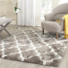 fss115a | white faux fur rug