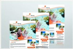 Refreshing travel brochure templates for your travel company, hotel, ocean side tourist spot or any tourism related business, to attract more travelers.