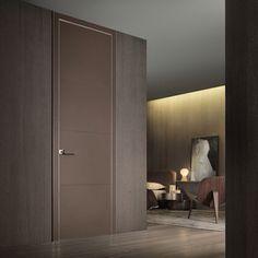 Rimadesio Luxor leather door panels by Noctum