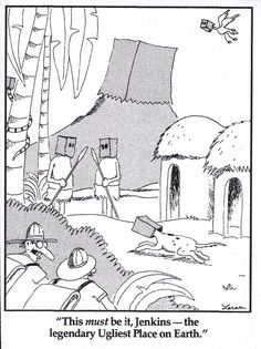 """the Far Side"" by Gary Larson""."