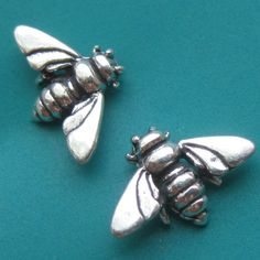 Bumble Bee Stud Earrings by sudlow on Etsy