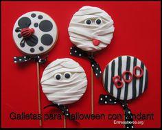 Galletas para Halloween con fondant (Araña)