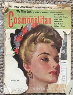 Cosmopolitan magazine, DECEMBER 1943 Model: Anne Baxter, actress Artist: Bradshaw Crandell