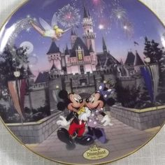 Disneyland Mickey and Minnie Mouse, Sleeping Beauty Castle, Fine Porcelain Collector Plate Styrofoam Plates, Large Jewelry Box, Sleeping Beauty Castle, Cool Face, Fine Porcelain, Pictures Of You, Trinket Boxes, Trick Or Treat, Disneyland