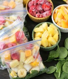 This green smoothie is packed with a great variety of fruits—Dessert Now Dinner Later opts for mangoes, pineapples, and strawberries, but you can choose whatever you like.Get the recipe here.