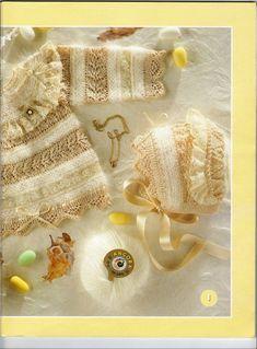 RECEITA TRICÔ FÁCIL: Lanas Stop N°61-Revista Tricô Bebês Baby Knitting, Crochet Baby, Knit Crochet, Baby Cardigan, Baby Dress, Knitting Patterns, Reusable Tote Bags, Free Knitting, Knitting For Kids
