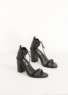 Ann Demeulemeester Intreccio Sandal (Black) // #shoe