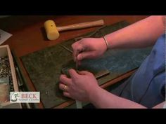 Leather Craft Training #2 - Setting Dot Snaps - Basic Skills HD