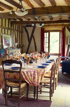 French Cooking School With Recipes Country Dining Roomscasa