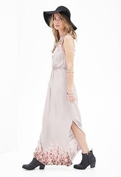 Contemporary Painted Floral Maxi Dress | Forever 21 - 2000083561