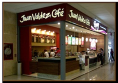 my siestas while in Bogota...Juan Valdez coffee shop