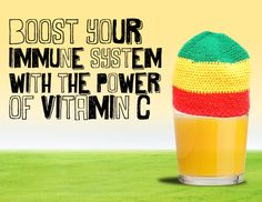 An average cup of orange juice has 124 mg of vitamin C