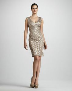 Scalloped Cocktail Dress by Sue Wong at Neiman Marcus.