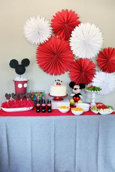 Mickey Mouse Birthday Party - Adorable but not over the top, budget-friendly.