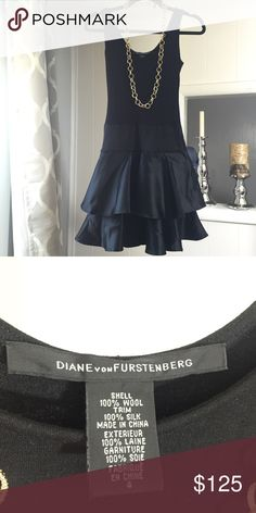 Little black dress by DVF Important: Originally a size 4, I got it altered to a size 0/2. DVF tends to run larger.. Like a 4 is really a 6 I think so the 0 I altered it to is more like a 2 if that makes sense. Only worn once. Diane von Furstenberg Dresses Midi
