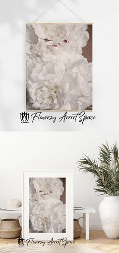 Big Photo, White Peonies, White Colors, Decor Ideas, Gift Ideas, Home Wall Decor, Land Art, Minimalist Home, Wallpaper S