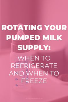 """When should you pump? How do you store the milk? How much milk do you need in your """"stash?"""" What is the best way to use the milk throughout the week, month, or year? Read on to find out tips and tricks for storing and rotating expressed milk. Breastfeeding Cookies, Breastfeeding Positions, Breastfeeding And Pumping, Freezing Breastmilk, Breastmilk Storage, Lactation Recipes, Lactation Cookies, Pumping Schedule, Pumping At Work"""