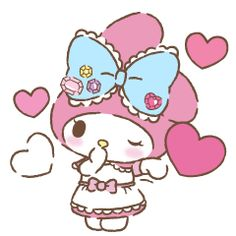 My Melody sends you her love! Good Morning Picture, Morning Pictures, Cartoon Gifs, Cute Cartoon, My Melody Wallpaper, Cute Winnie The Pooh, Hello Kitty My Melody, Emoji Love, Cat Cards