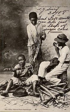 an tan lontan canne a sucre Old Images, Old Pictures, French Creole, Caribbean Art, West Indian, Black Pride, Les Miserables, Vintage Photographs, Black History