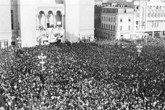 The revolution started in December 1989 from spontaneous protests in the town of Timişoara. Ceauşescu gave the army the orders to shoot, but the killings could not suppress the popular uprising. On 21 December, the revolt spread to Bucharest.