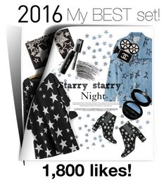 """""""Starry starry night my best set for 2016!!!"""" by briesepb ❤ liked on Polyvore featuring Bobbi Brown Cosmetics, WithChic, Être Cécile, Yves Saint Laurent, Giorgio Armani and Chanel"""