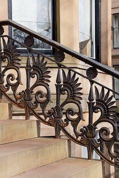 Beautiful railings in the West End of Glasgow - Athole Gardens, Glasgow Metal Stairs, Metal Railings, Stair Railing, Glasgow Architecture, Architecture Details, Glasgow Scotland, Iron Art, Iron Gates, Art Nouveau