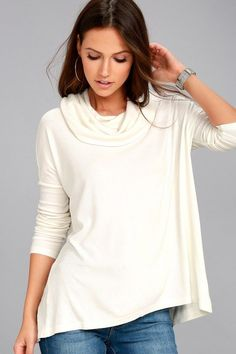 1256238f2418 Jack by BB Dakota Hogen Ivory Sweater Top