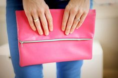 DIY Leather Fold Over Clutch | Leather Crafts | Create Your Own Durable DIY Accessories