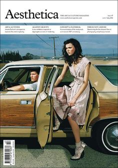 Love this layout of this issue of Aesthetica. It's simple, plain and has a striking cover image. Magazine Cover Page, Magazine Wall, Magazine Cover Design, Print Magazine, Editorial Layout, Editorial Design, Editorial Fashion, Layout Design, Print Design