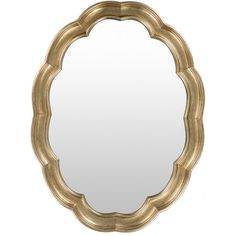 Walter Polyurethane Framed Large Size Oval Wall Mirror (Gold)