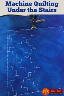 Free Motion Quilting design Under the Stairs by Leah Day. This is number 479 in the Free Motion Quilting Project.  http://freemotionquilting.blogspot.com/2017/06/how-to-machine-quilt-under-stairs.html
