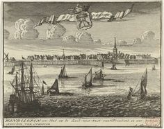 """1702 - """"Gezicht op Hindeloopen"""" by Jacob Folkema and Abraham Allard Dutch Netherlands, Gravure, Drawings, Amsterdam, Painting, Netherlands, The Nederlands, Painting Art, Sketches"""