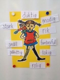 Learn Swedish, Swedish Language, Kindergarten, Pippi Longstocking, Cooperative Learning, Learning Environments, Future Classroom, Special Education, Sweden