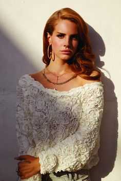 Our Style Muse Lana Del Rey inspired by our Rose sweater