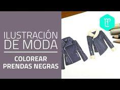Cómo colorear prendas negras con marcadores y colores