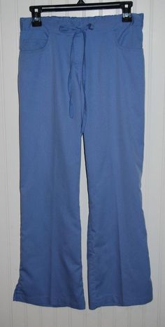 Greys Anatomy Women's XS Petite Scrub Pants Blue Style 4232P #GreysAnatomy