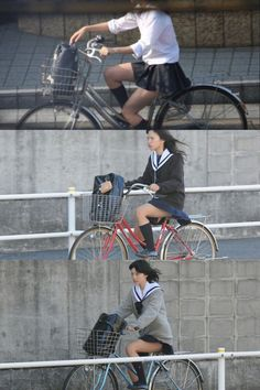 School Girl Japan, Bicycling, Baby Strollers, Automobile, Lovers, Asian, Female, Sports, Models