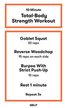 A Full-Body Strength Workout You Can Complete In 10 Minutes