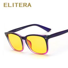 ae8a97cb8b1 ELITERA Anti Blue Rays Computer Goggles Reading Glasses Radiation-resistant Glasses  Computer Gaming Glasses Black