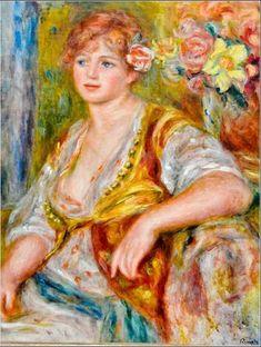 Pierre Auguste Renoir - Blonde a la rose, 1917, Musée de l'Orangerie, Paris, France