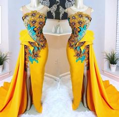 Call, SMS or WhatsApp if you want this style, needs a skilled tailor to hire or you want to expand more on your fashion business. African Dresses For Women, African Attire, African Wear, African Fashion Dresses, Fashion Outfits, African Traditional Wedding Dress, African Wedding Dress, African Weddings, Nigerian Weddings