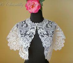 schiffli lace capelet | visit chantillydreams com