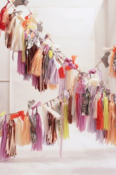 #wedding #hanging #decoration #fabric #ribbon