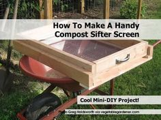 make a large SOIL SIFTER to remove rocks - Google Search
